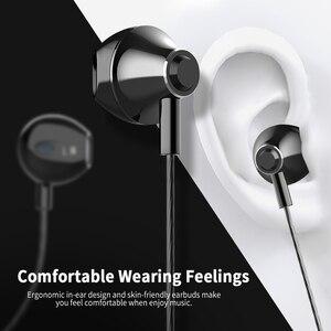 Image 2 - Langsdom Metal Kulaklık mikrofonlu kulaklıklar 3.5MM Kablolu Stereo Kulaklık Hifi Kulak Kulaklık Telefon Xiaomi için fone de ouv