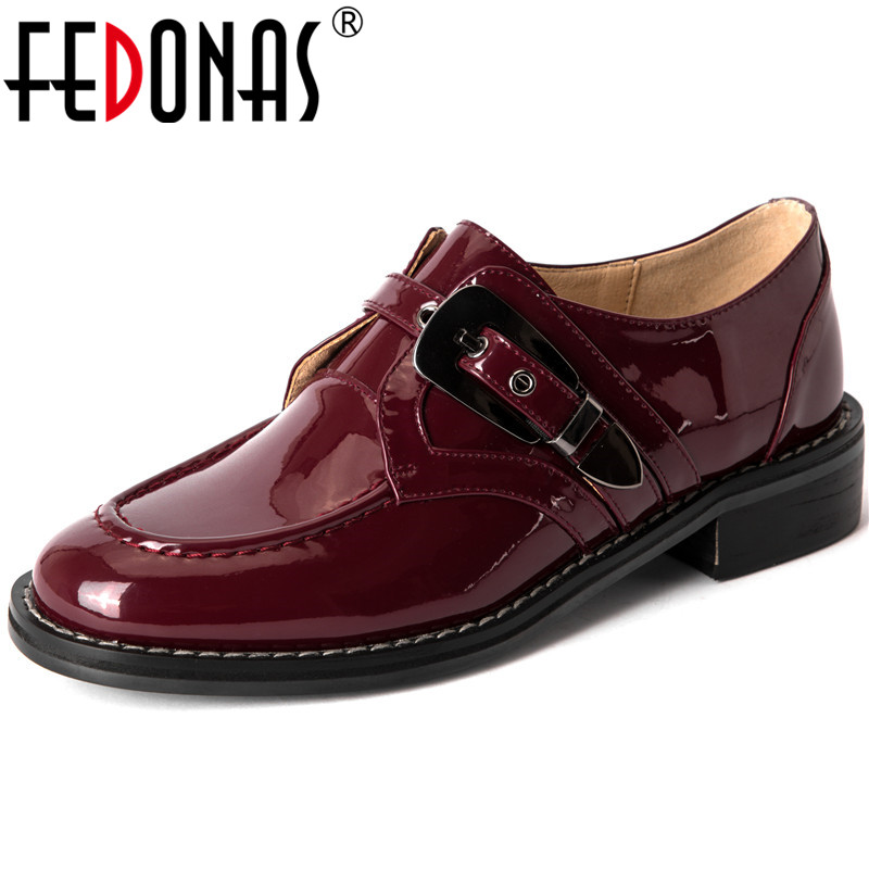 FEDONAS New Fashion Women 2020 Metal Decoration Party Pumps Genuine Leather Square Heeled Shoes Spring Summer Shoes Woman