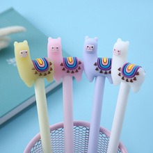 4 Pcs / Set gel pen Alpaca caneta pens for school canetas boligrafo material escolar stationery cute lapices tinta gel 4 pcs set gel pen cat caneta kawaii pens for school animal stationary canetas school supplies lapices tinta gel stylo