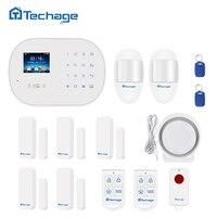 Techage S6 GSM GPRS PSTN Wireless Wifi Home Alarm System Kit PIR Motion Detector Smart Sensor Home Burglar Security Alarm System