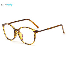 Retro Optical Frame Women Large  Fashion Plain Glasses Myopic Spectacle Men 2019