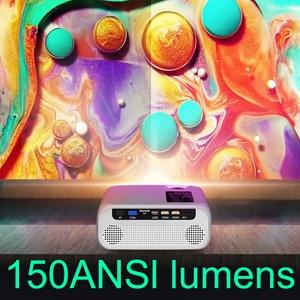 Image 4 - UNIC Proyector E500 para cine en casa, LED de 150 pulgadas, 1280x720P, 6000 lúmenes, Full HD, con HDMI, wi fi, PK CP600, para Android