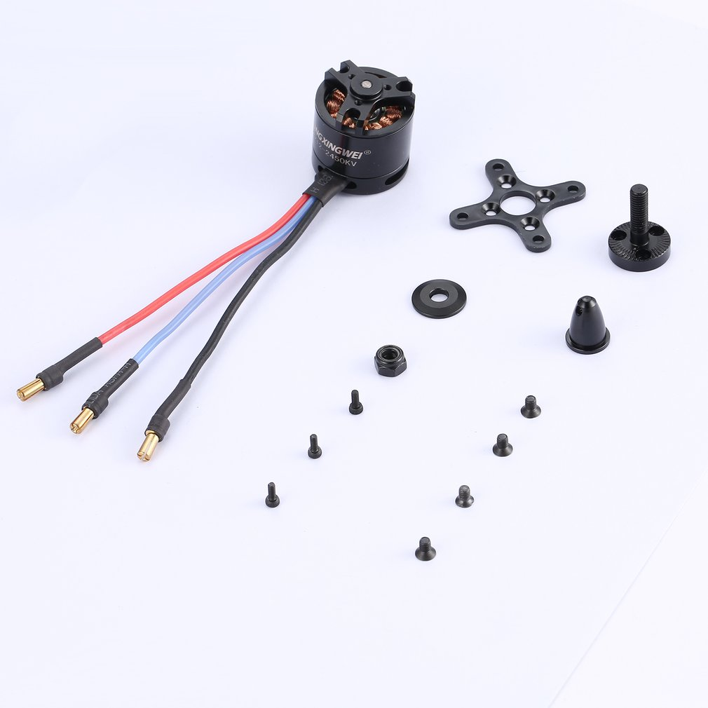 DXW D2212 2450KV 2-3S Outrunner Brushless Motor for RC FPV Fixed Wing Drone Airplane Aircraft Multicopter <font><b>6040</b></font> <font><b>Propeller</b></font> fz image