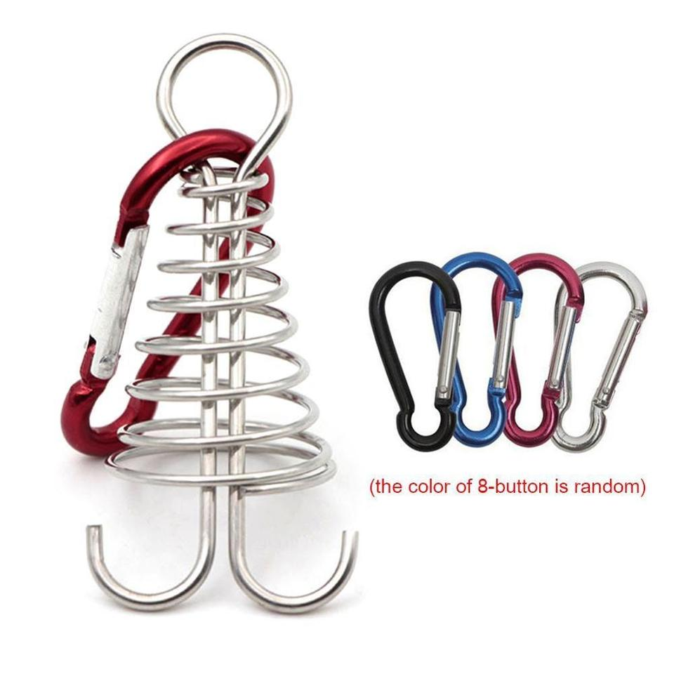 Durable Octopus Deck Peg With Carabiner Outdoor Camping Tent Board Rope Buckle