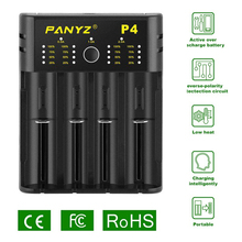 Зарядное устройство Panyz для литиевых аккумуляторов 18650, 26650, 21700, 10440, 14500, AA, AAA, никель, NiMH