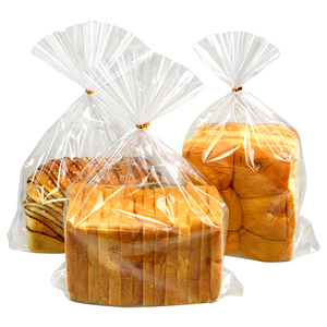 Image 2 - LBSISI Life 100pcs Plastic Bags Transparent Bag For Toast Bread Soft Frosted Food Packaging Baking Christmas Party