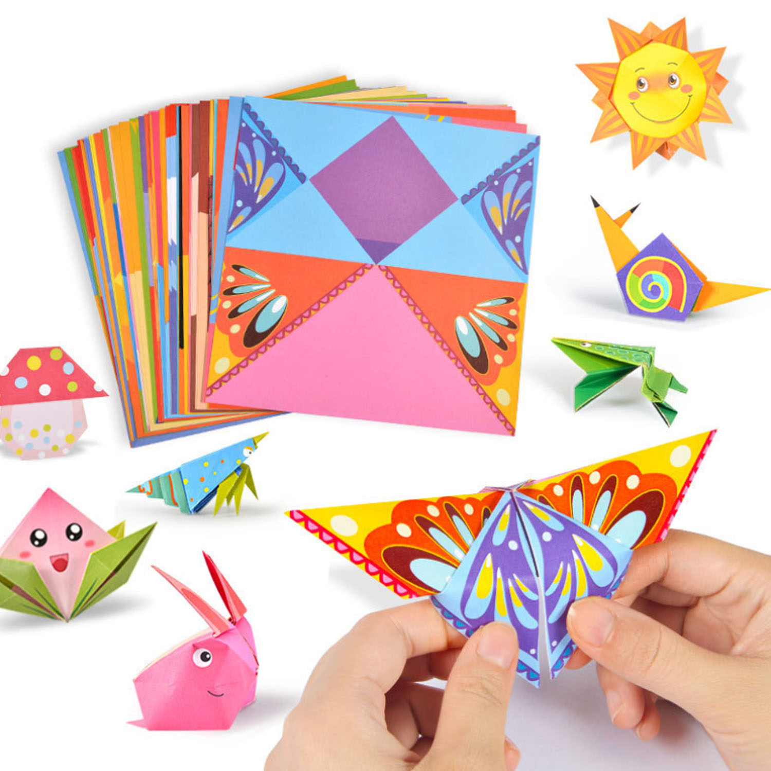 152 Sheets Kids Children Origami Folding Paper For Kindergarten Nursery School DIY Crafts Art Projects Early Educational Toy