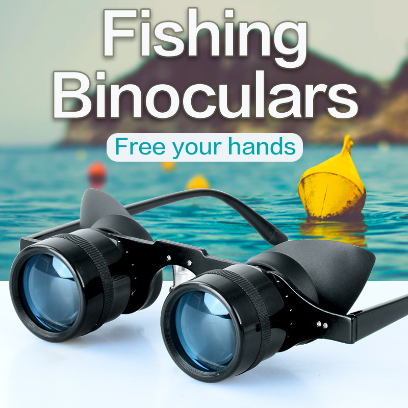 Fishing Binoculars Portable Fishing Telescope Zoom Magnifier Telescope Night Vision Binocular for Fishing Hunting Outdoor
