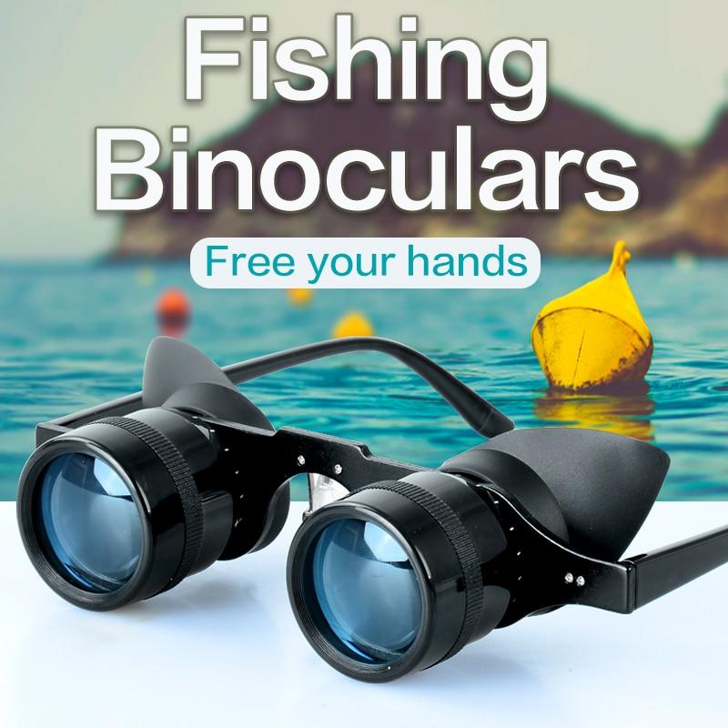 Fishing Binoculars Portable Telescope Zoom Magnifier Night Vision Binocular for Hunting Outdoor Tool