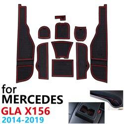 Anti-Slip Gummi Tasse Kissen Tür Nut Matte für Mercedes Benz GLA X156 GLA180 GLA200 GLA220 GLA250 GLA45 2019 2020 zubehör