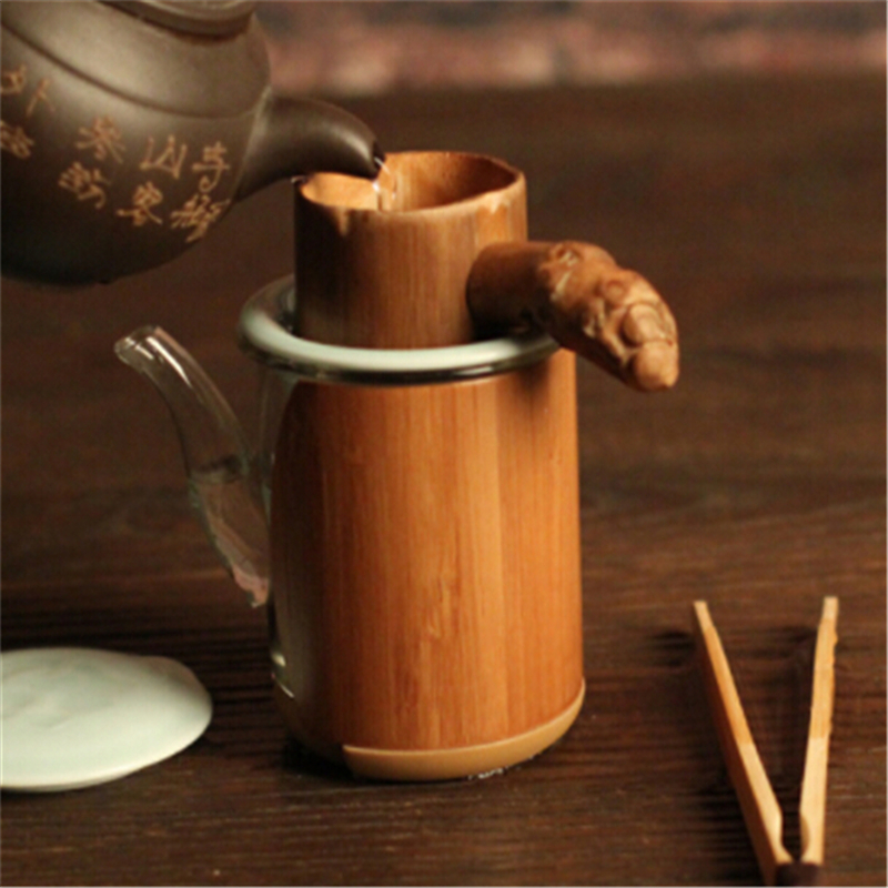 1PC Natural Bamboo Tea Strainer Infuser Filter Infusor Tea Tools Colander Gadgets Sieve For Tea Brewing Tea Drinkware Tools