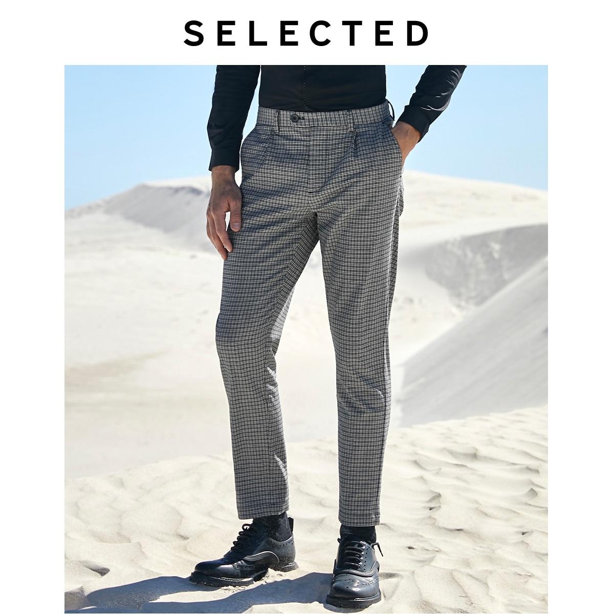 SELECTED Men's Autumn & Winter Plaid Business Casual Turnip Pants S 419314551