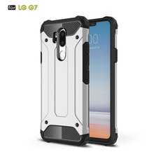 Case For LG G7 Diamond Armor Shockproof TPU PC Case For LG G7 Hybird Hard Durable Rubber Sleeve Back Cover mooncase hard rubberized rubber coating devise back чехол для lg g2 mini green