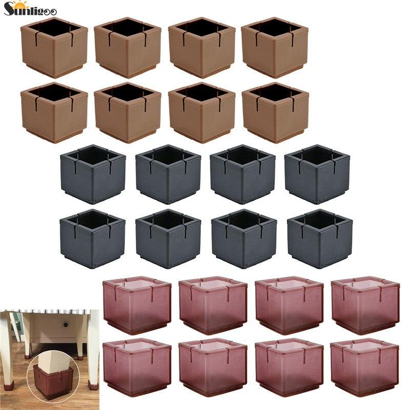 10 unids//set cuadrado silla patas tapas accesorios muebles protecci/ón piso antideslizante coj/ín muebles pies Blanking tapas tapas protector 15 x 15 mm