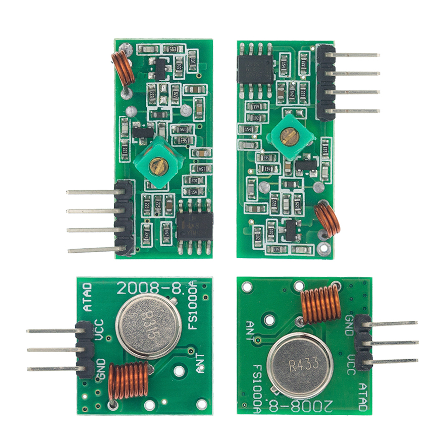 433 мгц радиочастотный передатчик и приемник модуль ссылка комплект для ARM/MCU WL DIY 315 МГц/433 МГц Беспроводной дистанционного Управление для arduino...