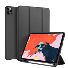 цена на For iPad Pro 12.9 Inch 2020 PU Tablet Case Flip Stand Cover For iPad Pro 12.9 Inch Protective Case with with Sleep +Pen Holder