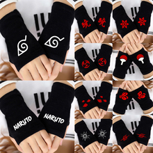 Japanese Hot Anime Cosplay Half Finger Gloves Red Cloud Attack On Titan Tokyo Ghoul Cosplay Cotton Fingerless Warm Gloves