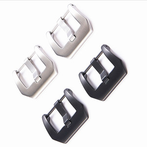 Image 5 - Wholesale 30Pcs/Lot Watch Buckle Stainless Steel Watch Buckle Screw Silver Black Color Shiny Matte Style 20MM 22MM 24MM 26MM
