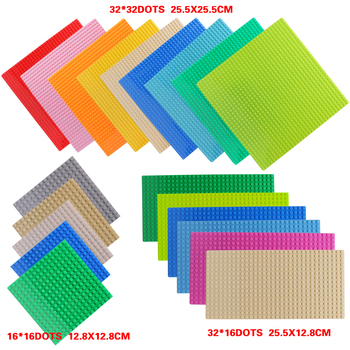 4 Size 33 Styles Plastic Assembly Blocks Base Plates Figures City Classic Toys Building Blocks Baseplates Toys For Children Gift 4