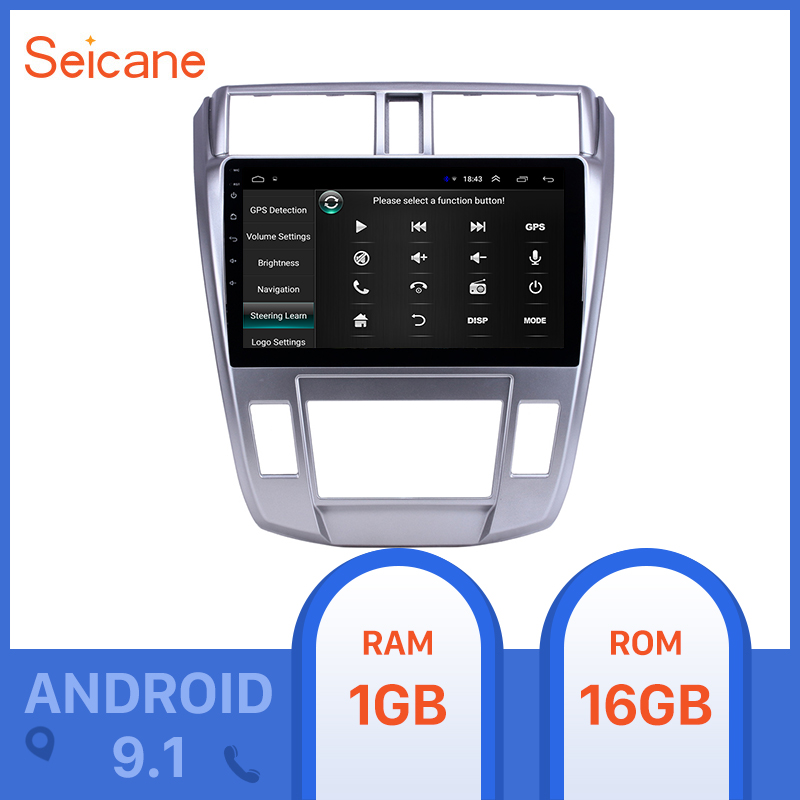 <font><b>Seicane</b></font> 10.1 inch GPS car Radio Android 9.1 for 2008-2013 <font><b>Honda</b></font> <font><b>City</b></font> Auto A/C With HD Touchscreen support Carplay Backup camera image