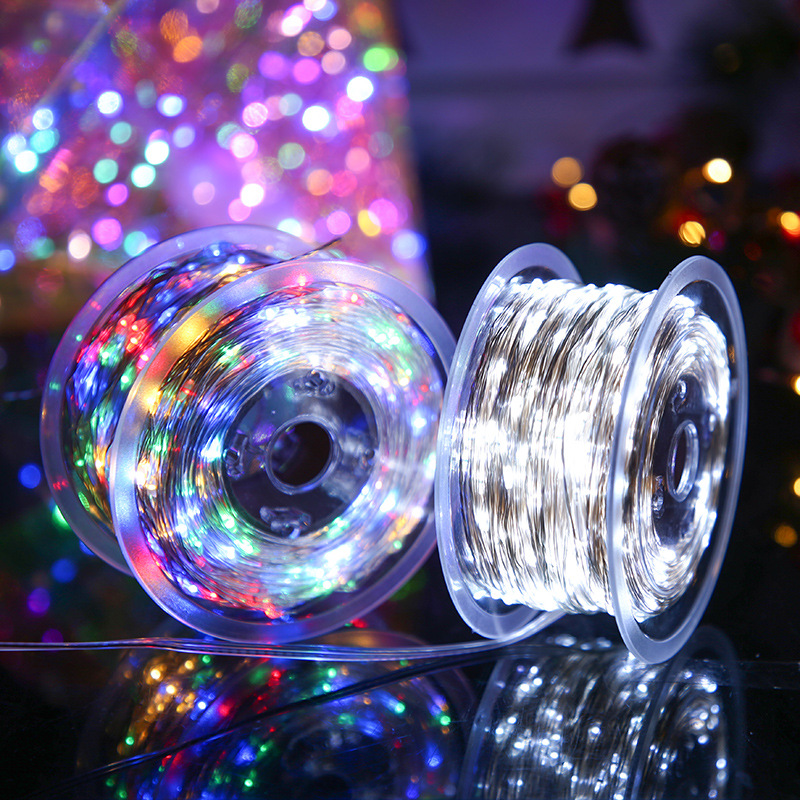 LED Fairy Garland 20 50 100M String Lights EU Plug Power Eight Function Modes Fairy Lights Christmas Wedding Party Decor