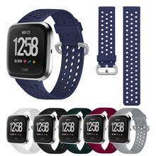 Silicone Watch Strap For Fitbit Versa Versa 2 Watchband Replacement Wristband Watch Bracelet Size L/S for Fitbit Versa Versa 2 vice versa