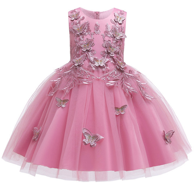 2019 Ladies Dress Flower Girl Dresses For Wedding Girls Dress First Communion Princess Beading Dress Baby Ball Gown Costume