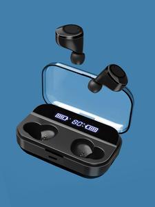 Earphones Tws Bluetooth Wireless Headsets Waterproof with Digital-Display Auto-Link Led