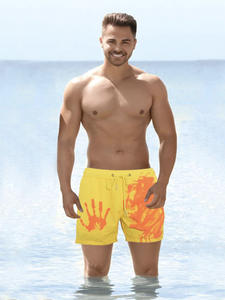 Bathing-Suit Shorts Trunks Beach-Pants Swimming-Board Colour-Changing Men's Quick-Dry