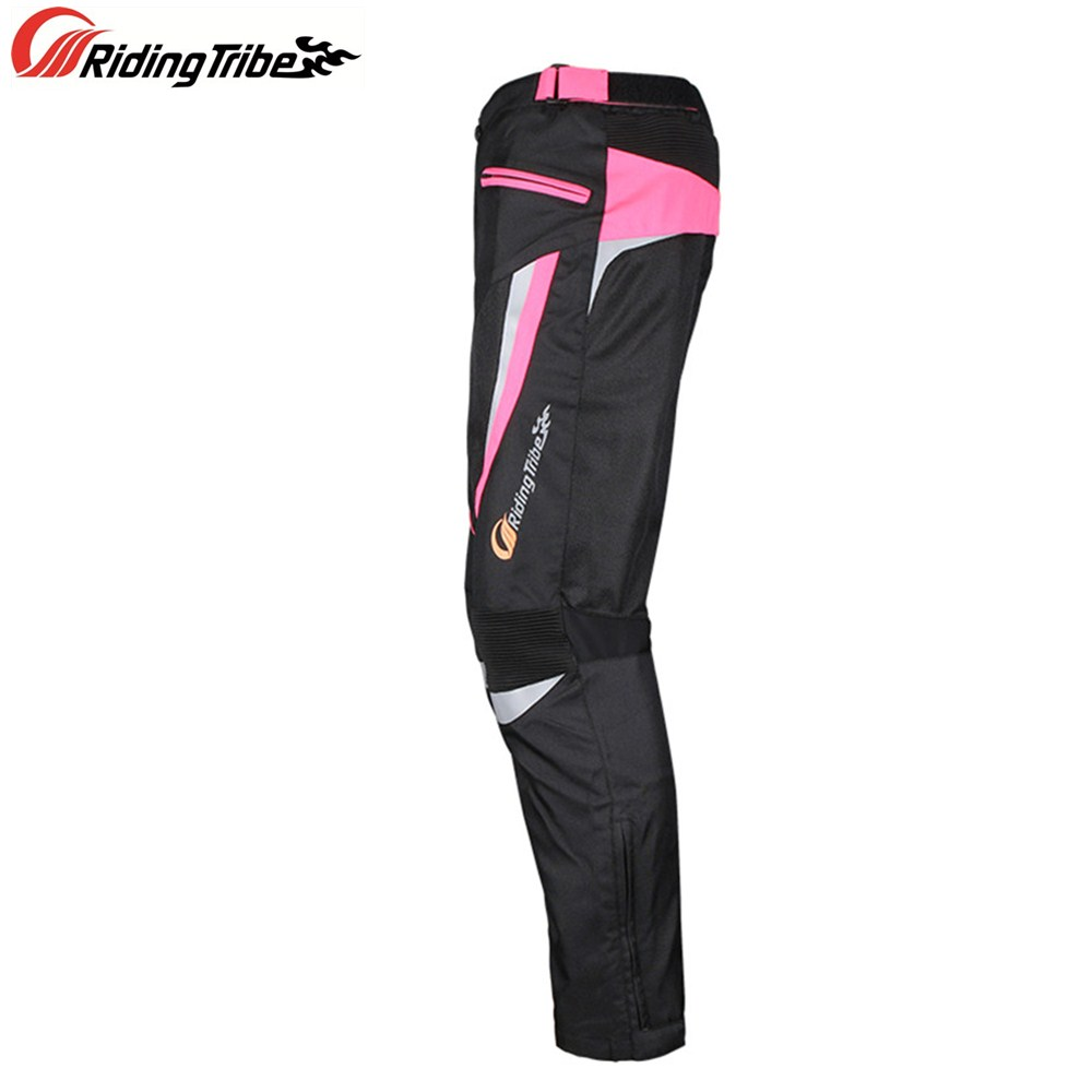 Women Motorcycle Pants Slim Fit Style Riding Trousers Breathable Racing Pants with Protective Gear and Waterproof Liner HP-20