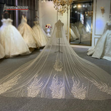 Luxury full beading veil