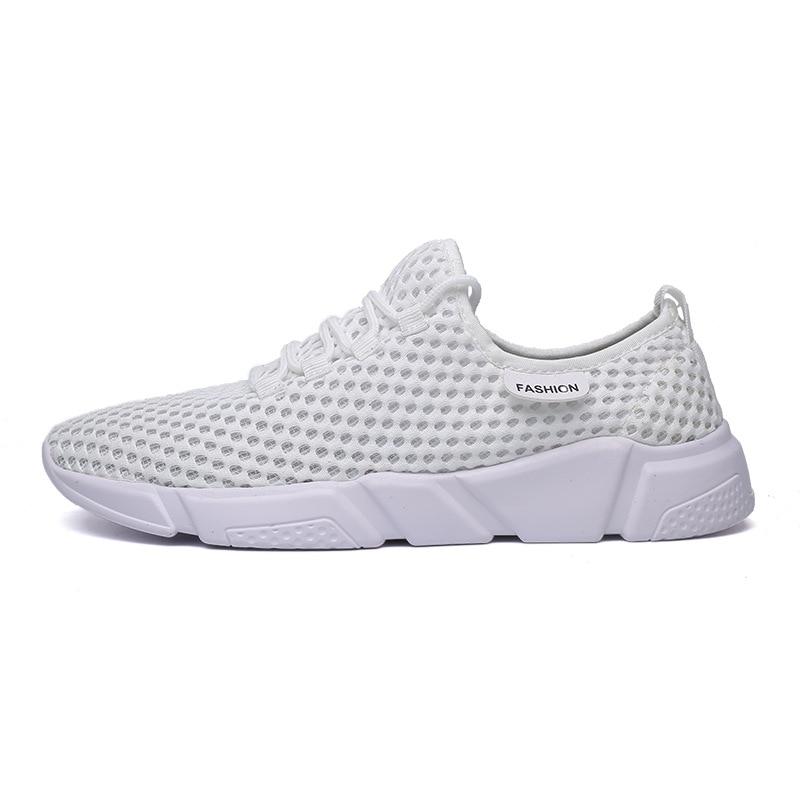 Mesh blanc hommes chaussures été 2019 nouvelles chaussures De course respirantes creuses Tenis Masculino Adulto Zapatos De Hombre