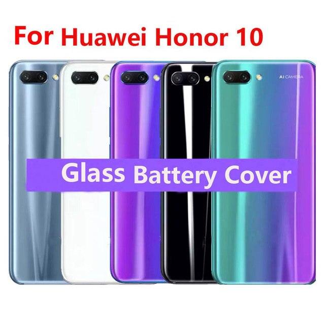 עבור Huawei Honor 10 זכוכית אחורי שיכון עבור Huawei Honor 10 סוללה חזרה כיסוי אחורי זכוכית החלפת מקרה תיקון חלקים