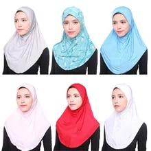 Fashion Women Muslim Islanic Arab Ripple Sequins Long Scarf Shawls Shayla  Turba