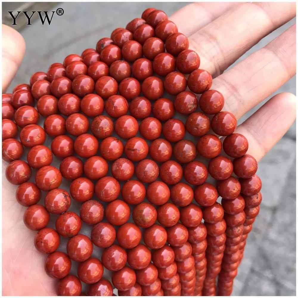 Высококачественные гладкие красные круглые Seadbeads полированный натуральный камень Унисекс Браслет Ожерелье Изготовление ювелирных изделий kralen Bijoux Оптовая Продажа