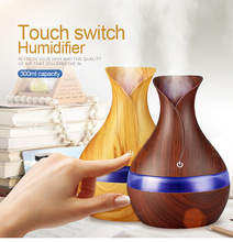 Mini Humidifier 300ML Wood Grain Aromatherapy Machine Diffuser Instrument Colorful Ultrasonic Humidifier 300ml colorful led timing ultrasonic wood grain base aromatherapy machine air humidifier aerosol dispenser diffuser 2 colors