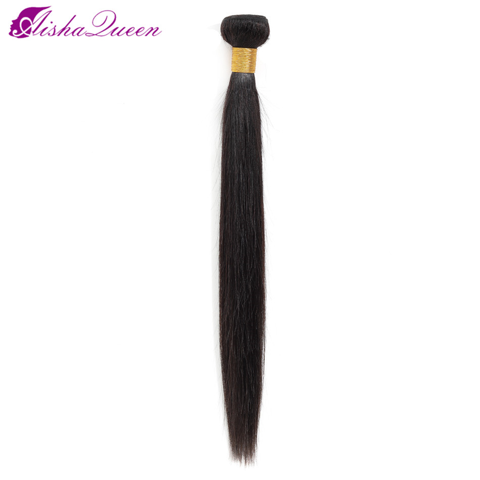 Aisha Queen Brazilian Straight Hair Bundles Natural Color 100% Human Hair Weave Bundles Non Remy Hair Extensions