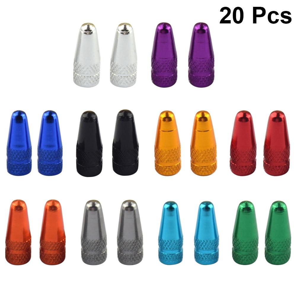 Колпачки для клапанов велосипеда 20 шт., маленькие портативные прочные колпачки для клапанов из алюминиевого сплава во французском стиле, ...