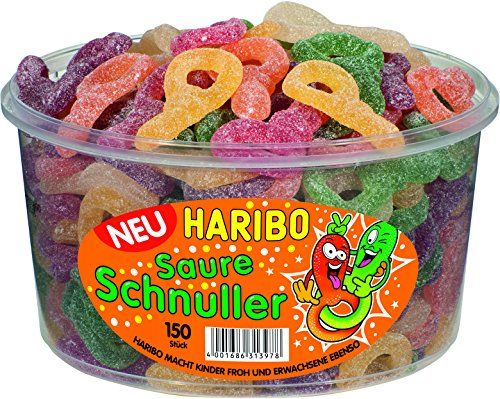 Haribo Sour Dummy 150 ST In Round Container, 1er Pack (1 x 1.2 Kg