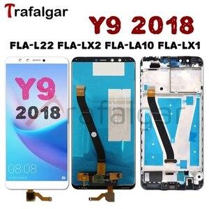 Image 1 - Für Huawei Y9 2018 LCD Display Touchscreen FLA L22 LX2 LX1 LX3 Für Huawei Y9 2018 Display Mit Rahmen handy LCD Ersetzen