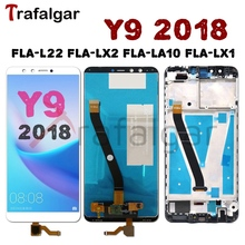 For Huawei Y9 2018 LCD Display Touch Screen FLA L22 LX2 LX1 LX3 For Huawei Y9 2018 Display With Frame Mobile Phone LCD Replace