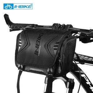 Image 1 - INBIKE Wasserdichte Fahrrad Tasche Große Kapazität Lenker Vorne Rohr Tasche Fahrrad Tasche Schulter Rucksack Radfahren Bike Zubehör