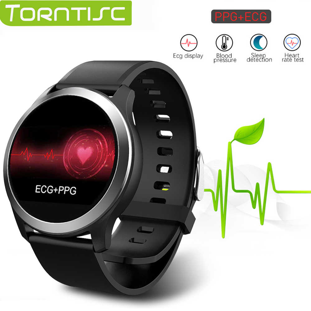 Torntisc ECG + PPG Smart Watch Men IP68 Waterproof Sport Watch Heart Rate Monitor Blood Pressure Smartwatch For The Aged