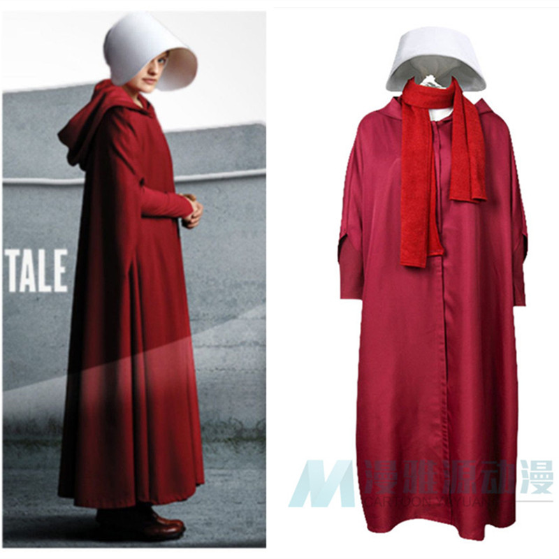 Halloween femmes le conte de la femme de ménage saison Offred costume june Osborne robe rouge avec cape costumes toute taille