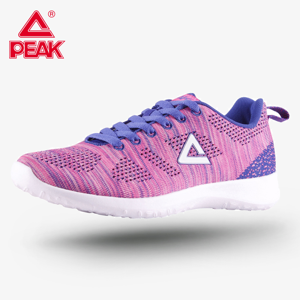 PEAK Running Shoes Female Sneakers Super Light Weight Casual Breathable Footwear Women Sports Shoes Soft Sole Jogging EW7232E