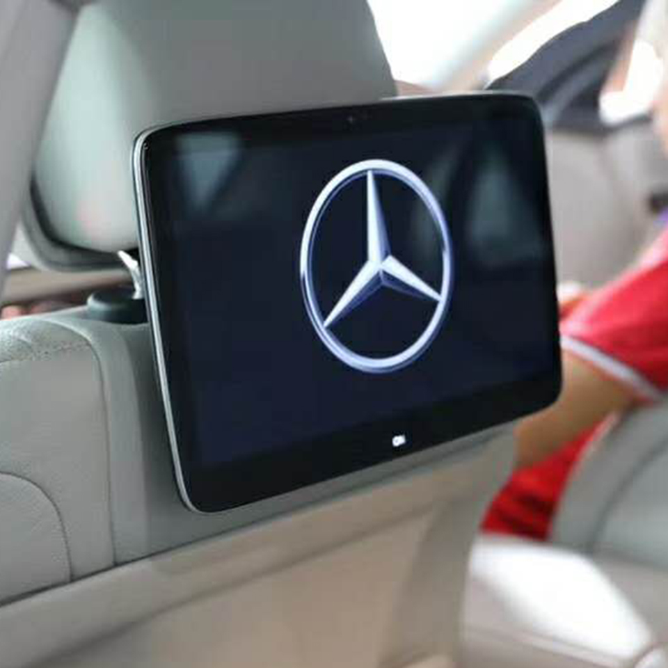 2020 OEM 2 PCS Android 9.0 System 4G Network 8 Cores Fixed Bracket Rear Seat Display Monitor For All Car Mercedes-benz