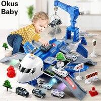 Avión de juguete de inercia para niños, de gran tamaño juguete de avión de pasajeros, pista de simulación de música deformable, 2021