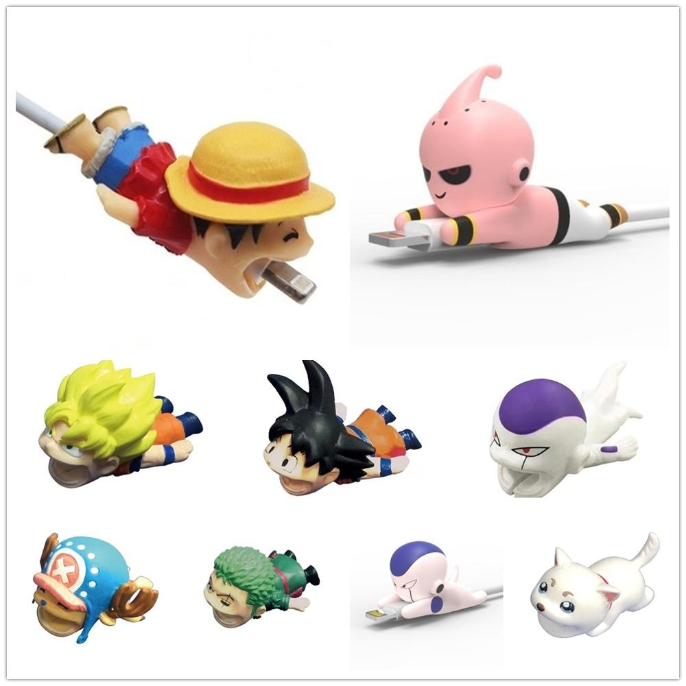 Cable Protector Cute Animal  Cable Bite Dragon Ball Goku Buu One Piece Luffy For Phone Data Line Protection