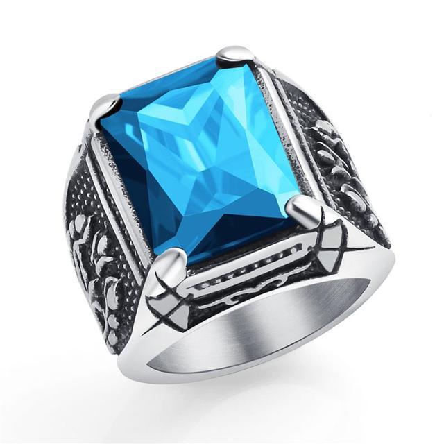 Bague dragon bleu
