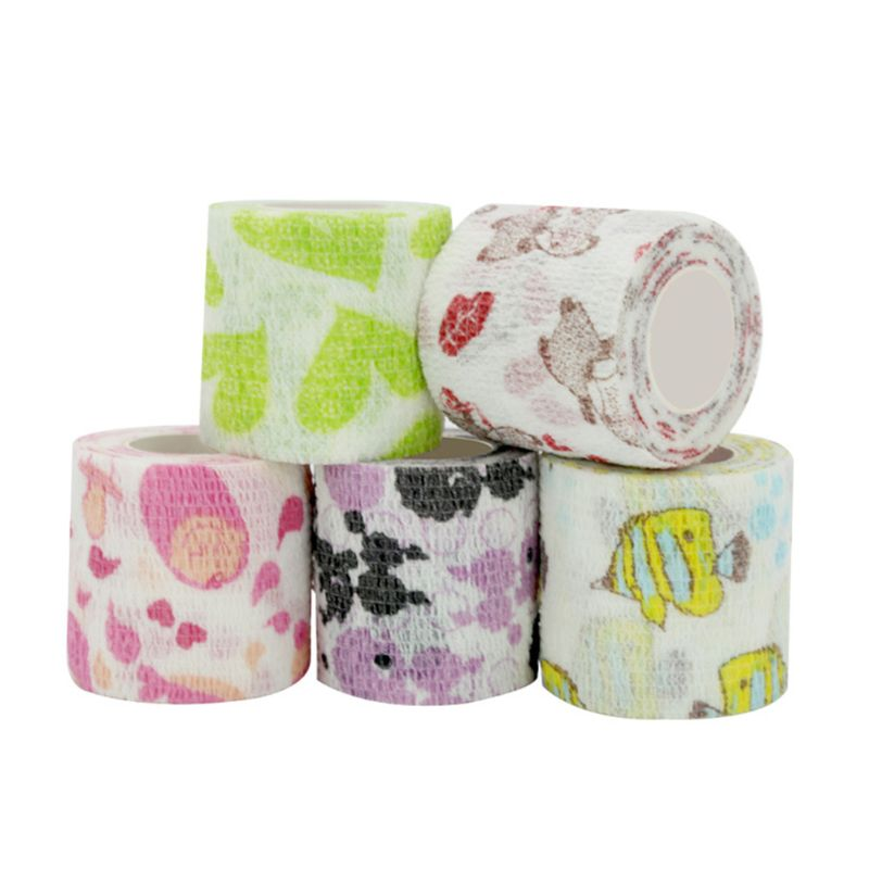 5 Pcs/set Cartoon Stretch Self-adhesive Bandage Breathable Light Sports Support High Quality and Brand New